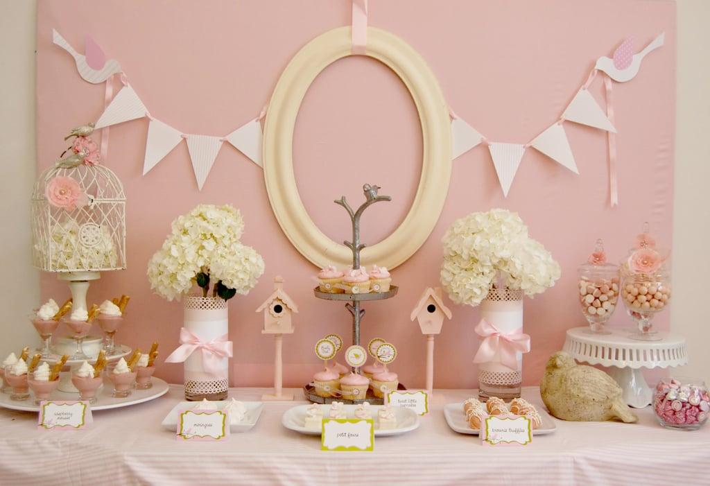 Little Pink Birdies Dessert Table