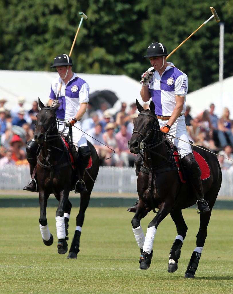 Prince William and Prince Harry played in a charity polo match.
