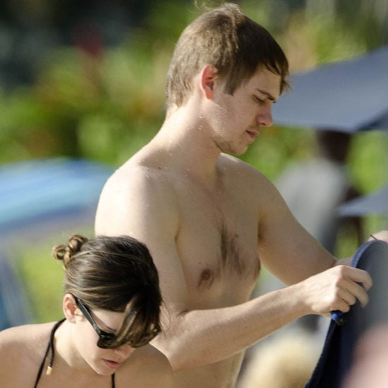 Rachel Bilson in a Bikini and Hayden Christensen Shirtless in Barbados