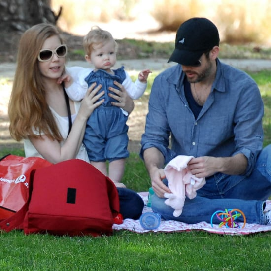 Pictures of Amy Adams, Aviana Le Gallo, and Darren Le Gallo Playing at a Park in LA