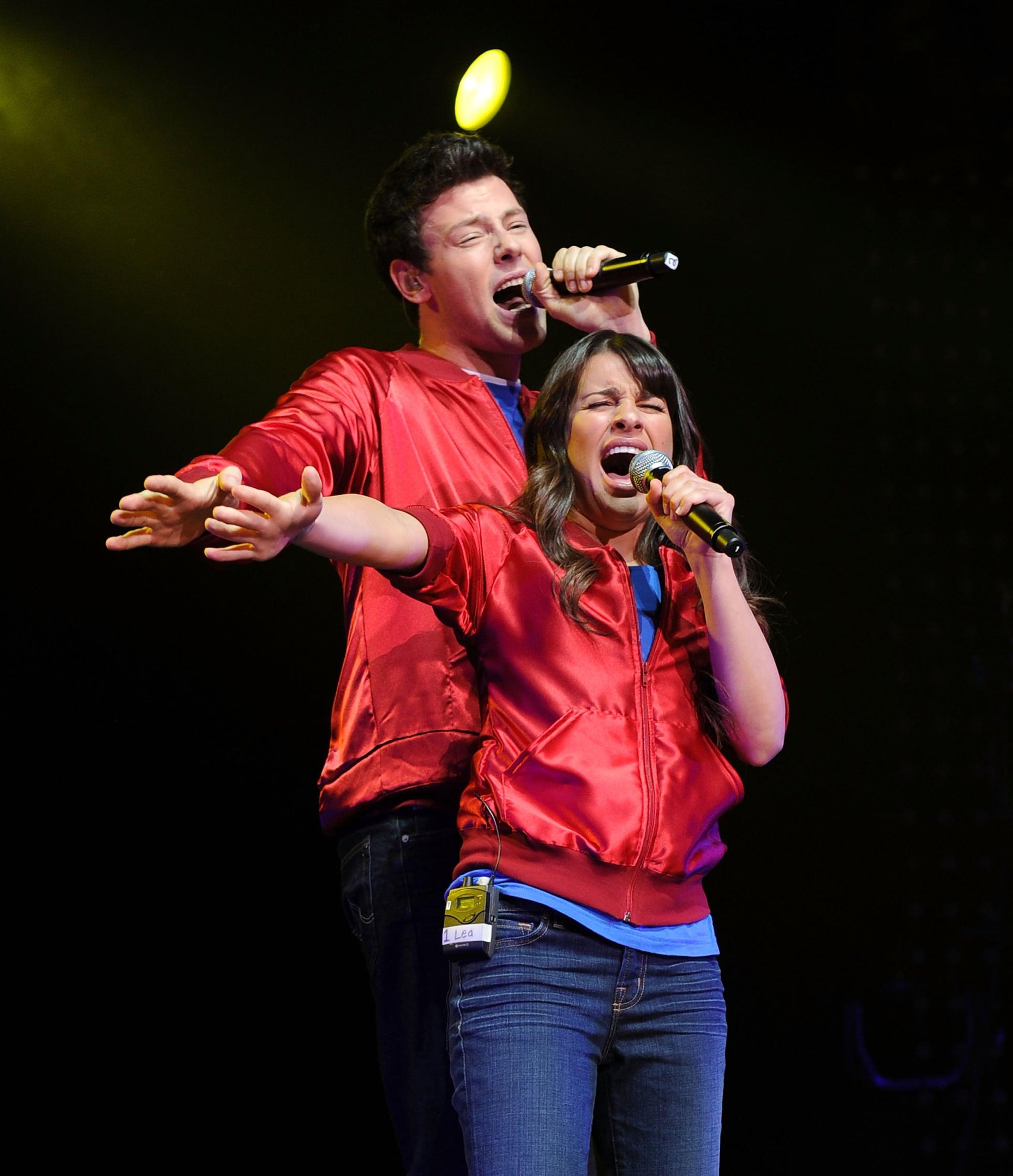 Cory Monteith performed with Lea Michele at an NYC concert event in May 2010.