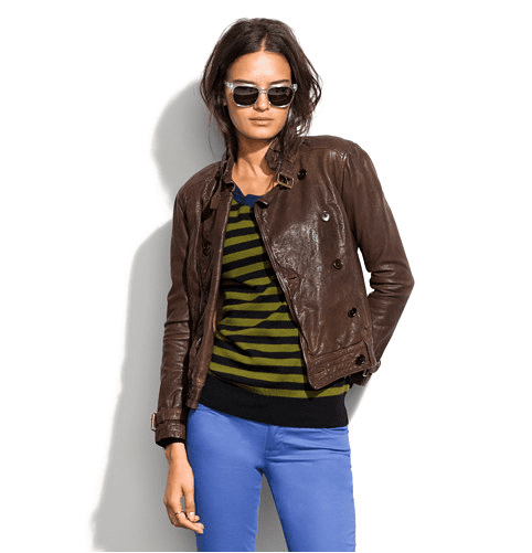 We're head over heels for Madewell's Belted Leather Bomber ($498) — the rich brown shade looks great with everything, and the ruggedly worn-in leather looks like you've had it for ages.