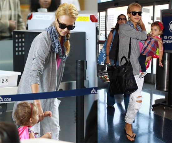 Photos of Jessica Alba And Daughter Honor Warren at LAX