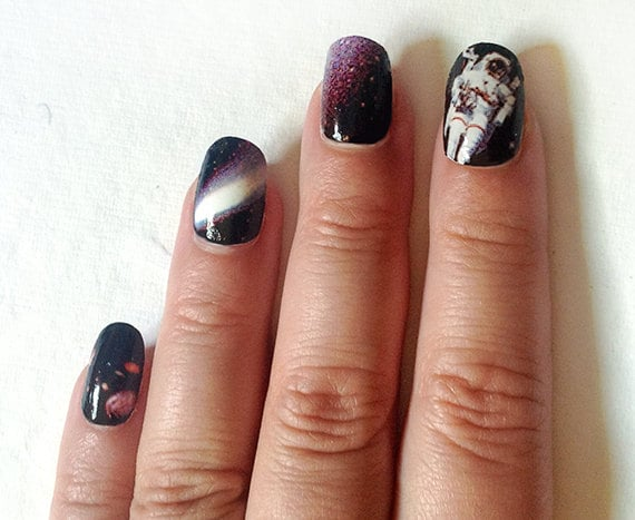 Get nails worthy of the most epic daydreams with Galaxy Nail Wraps ($7 for 18) that feature an astronaut, a space shuttle, and some familiar planetary sights of the solar system.