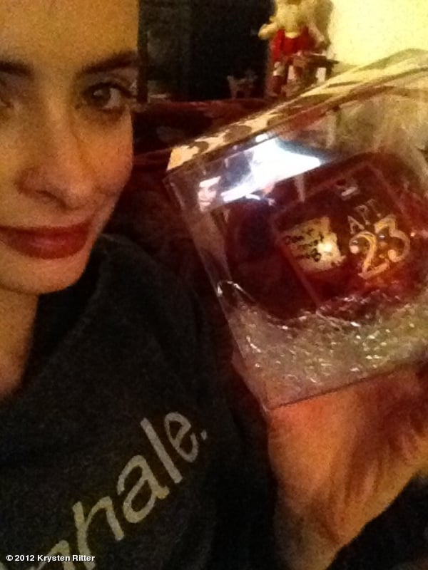 Krysten Ritter showed off her Don't Trust the B---- in Apartment 23 ornament.  Source: Krysten Ritter on WhoSay