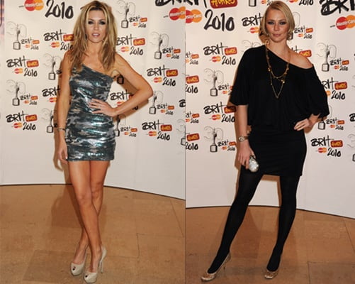 Photos of Abigail Clancy and Jodie Kidd at 2010 Brit Awards