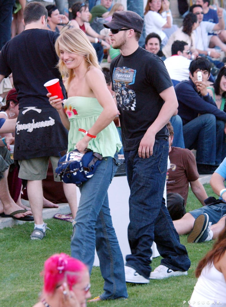 Cameron Diaz and Justin Timberlake checked out the 2005 Coachella crowd.
