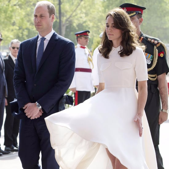 The Duchess of Cambridge's Dress Flying Up Pictures