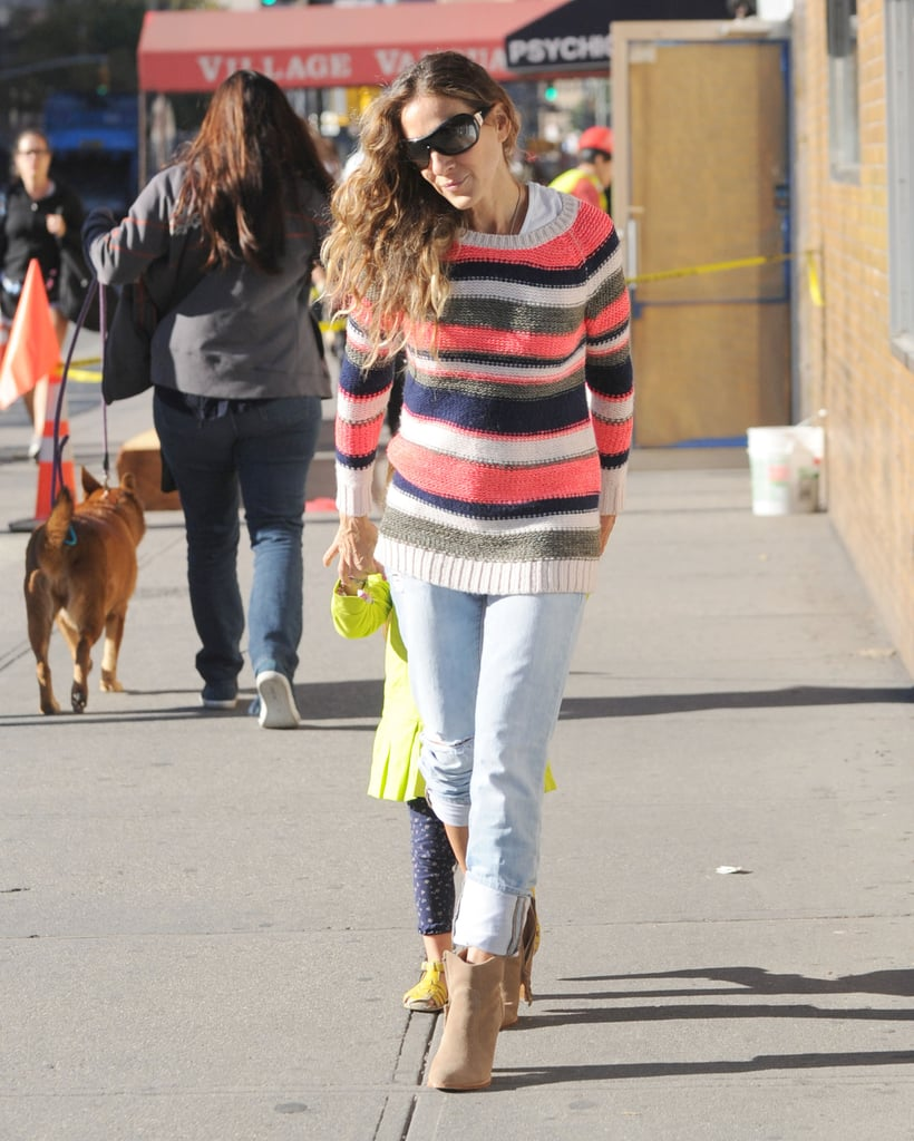 Sarah Jessica Parker Mixes Babies, Broadway, and Manolo Blahnik in the Big Apple