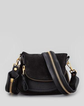 Tom Ford Jennifer Suede Mini Crossbody Bag, Black