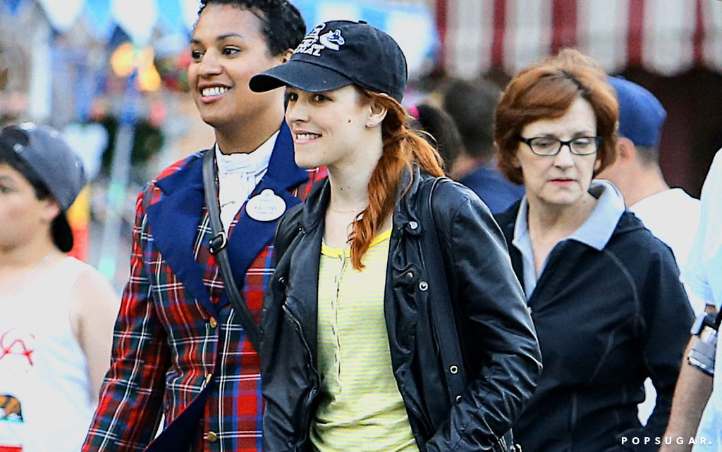 Rachel McAdams Goes Red For Disneyland Day