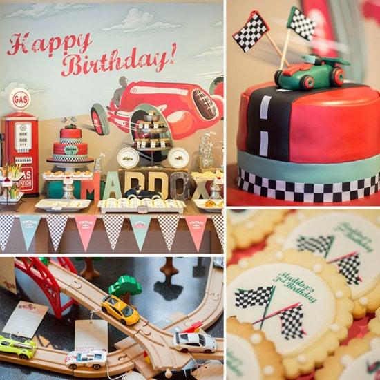 A Vintage Race Car Birthday Party