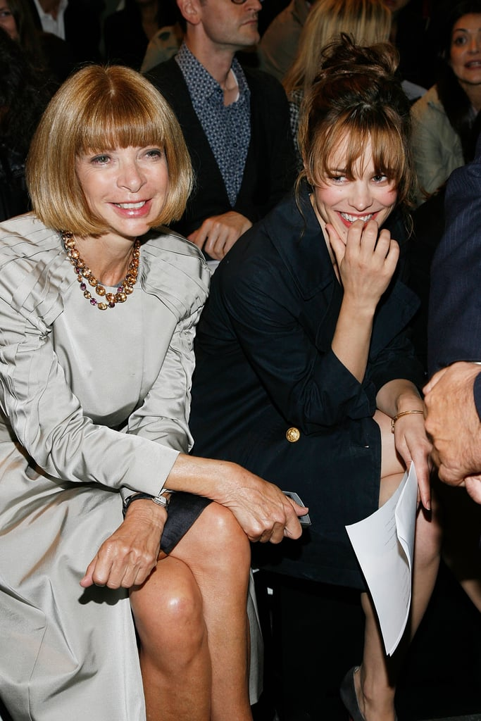 Anna Wintour and Rachel McAdams sat front row at the February 2009 Alexander Wang show.