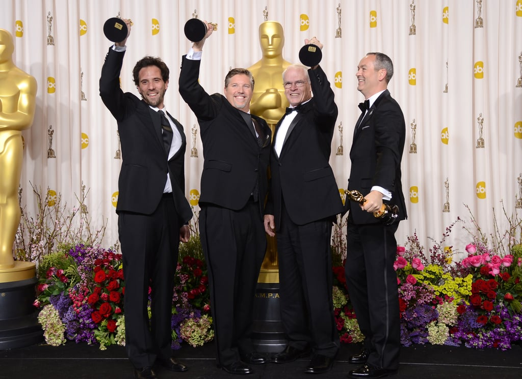 Guillaume Rocheron, Bill Westenhofer, Donald R. Elliott and Erik-Jan De Boer won best visual effects for their work in Life of Pi.