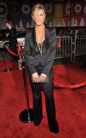 Jennifer Aniston in Black Burberry Tuxedo: Love It or Hate It?
