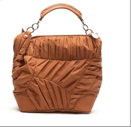 Stella McCartney Pleated Nylon Bag In Orange