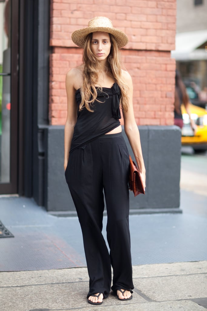 Because a simple outfit leaves ample room to accessorize with a hat. Source: Le 21ème | Adam Katz Sinding