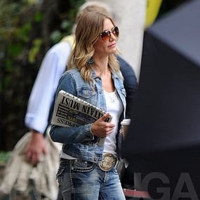 Cameron Diaz and Colin Firth Pictures Shooting Gambit