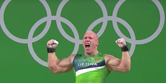 Watch Weightlifter Celebrate Olympic Bronze With An Epic Backflip
