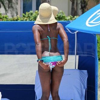 Guess Who's Picking Her Bikini Bottom Wedgie?