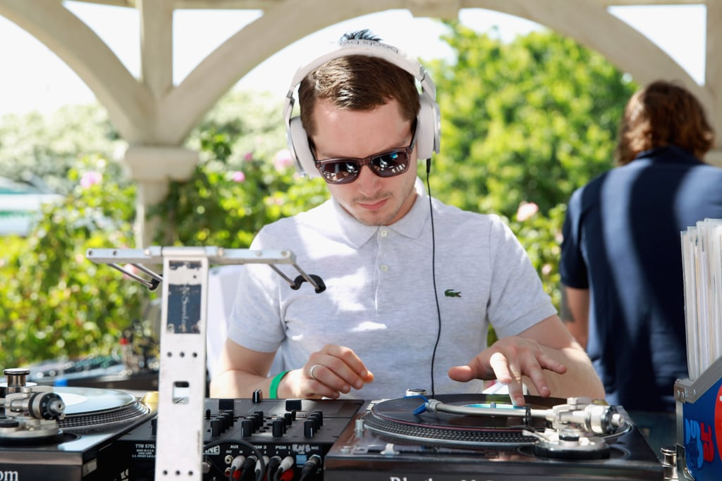 Elijah Wood played DJ at the Lacoste L!ve party in 2013.