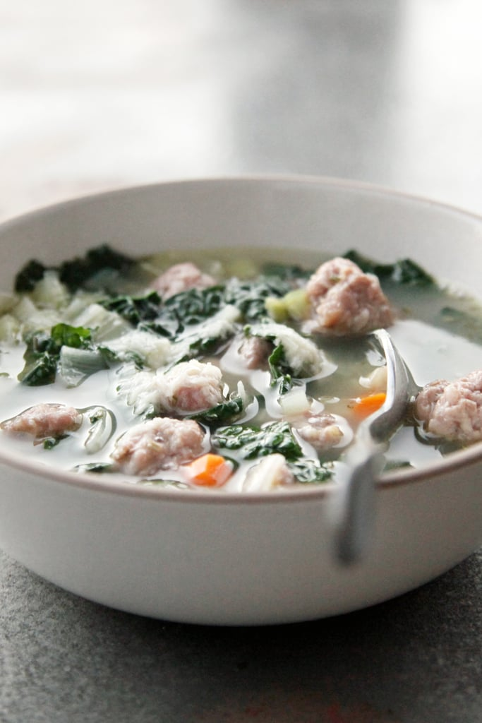 Kale, White Bean, and Meatball Soup