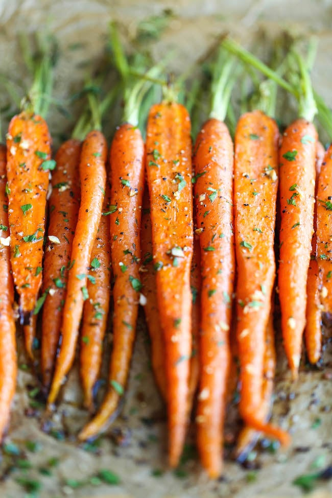 Garlic Roasted Carrots | 21 Vegetable Dishes You'll ...
