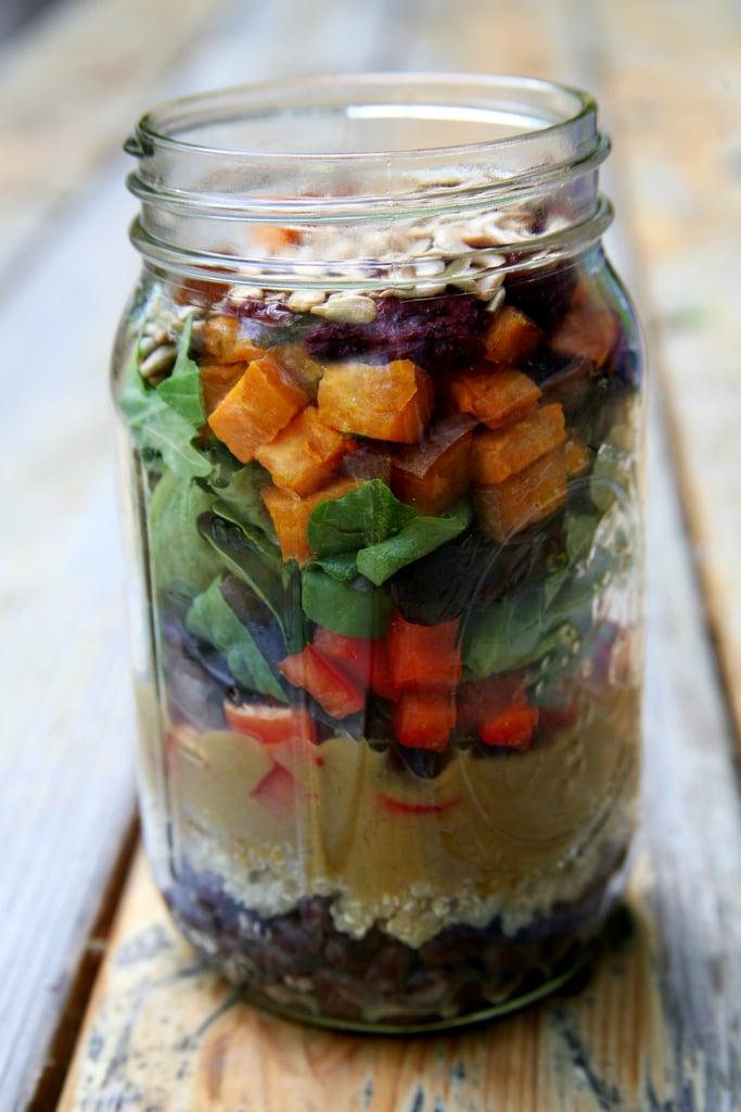 Roasted Sweet Potato and Quinoa Salad With Mango Balsamic Vinaigrette