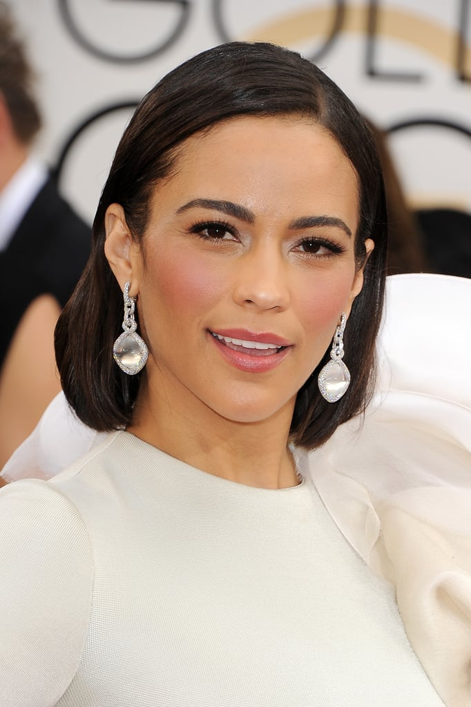 Paula Patton's pretty pink blush and matching lipstick complemented her caramel complexion beautifully.