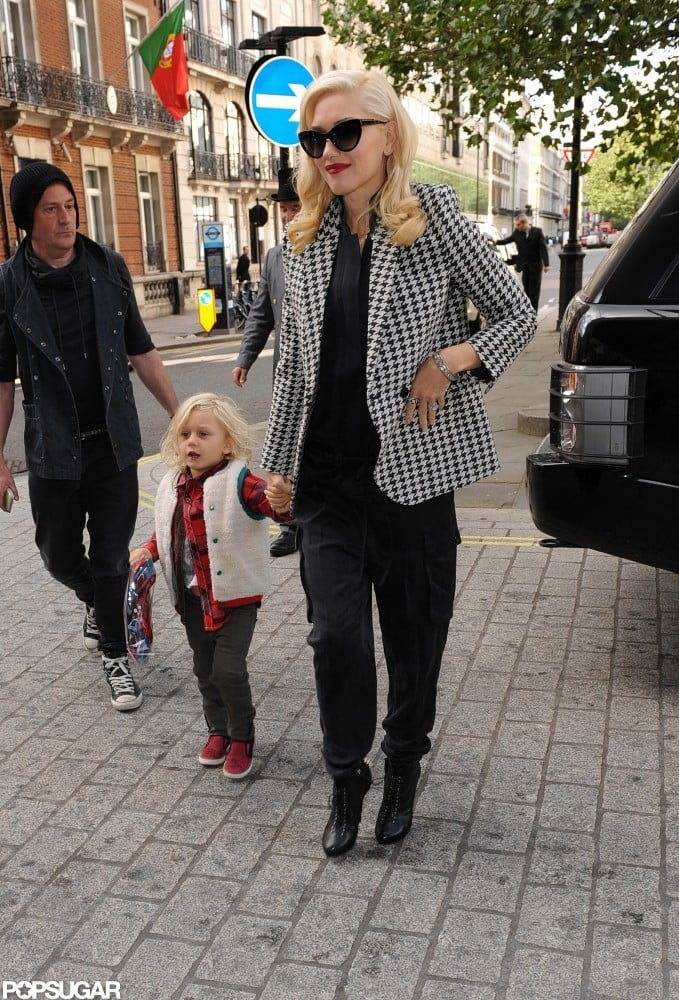 Gwen Stefani and Zuma Rossdale walked through London together.