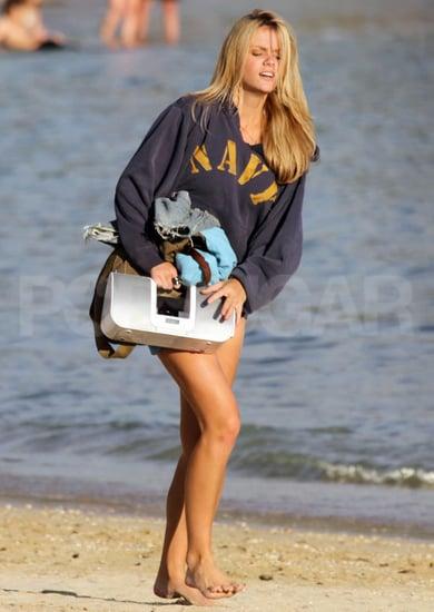 Pictures of Brooklyn Decker on the Beach in Hawaii Wearing Bikini Bottoms