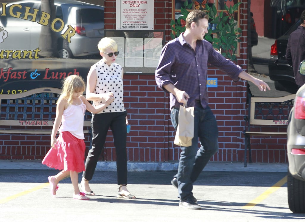 Jason Breaks From HIMYM For a Treat With Michelle and Matilda