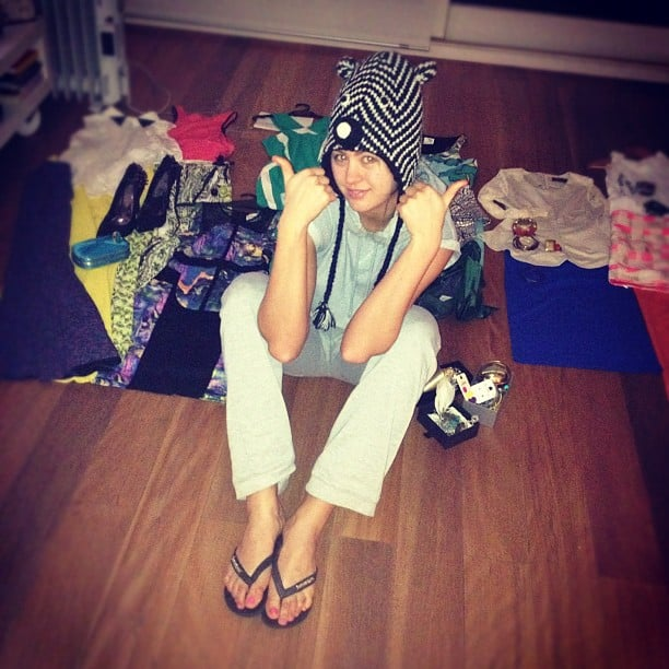 Jesinta Campbell packed her clothes for a trip to Melbourne. Source: Instagram user jesintac