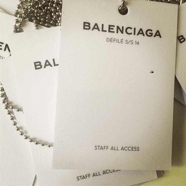 Balenciaga gave us full access to its show. Source: Instagram user _balenciaga