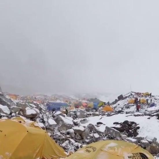 Avalanche Hits Mount Everest Basecamp 2015   Video