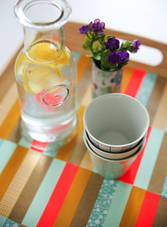 Trays have endless uses, making them a no-fail gift for both the entertainer and the design-lover. Sure, you could buy a tray, but this paper-strip DIY is easy and customizable.  Photo by Fellow Fellow via Say Yes to Hoboken