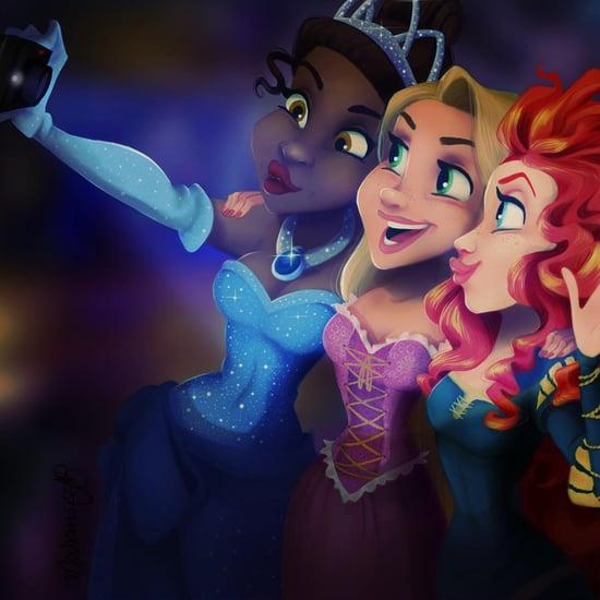 Disney Selfies Art
