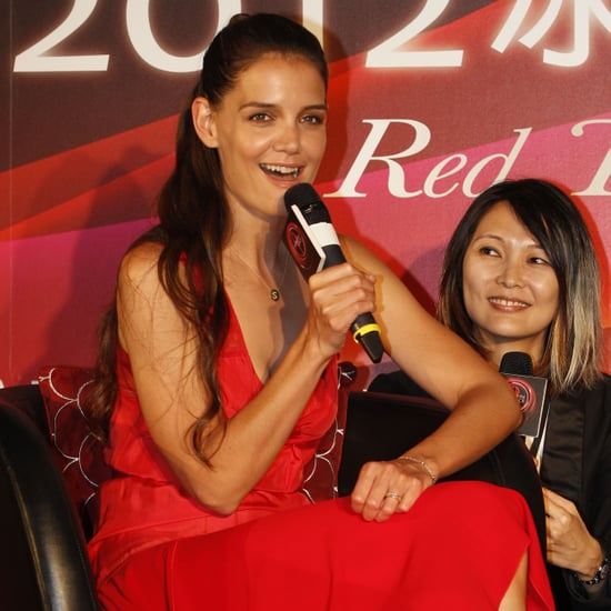 Katie Holmes Red Dress Pictures in Taiwan