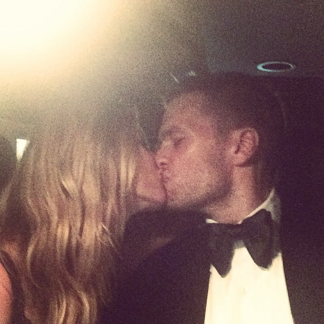 Tom Brady and Gisele Bünchden couldn't stay away from each other at the end of the night.  Source: Instagram user giseleofficial