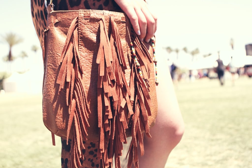 Fringe bags were spotted everywhere at Coachella.