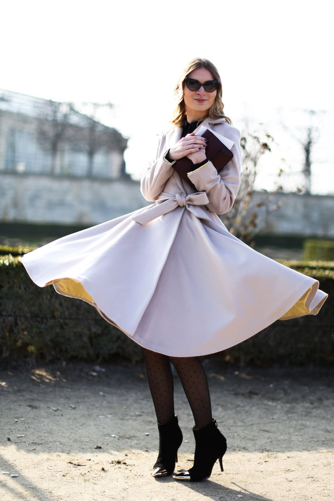 This coat was made for twirling.