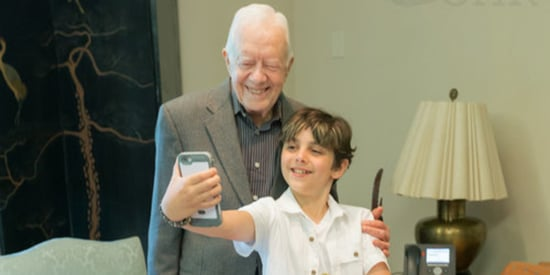 Jimmy Carter Takes Sweet Selfies With Young Fellow Cancer Survivor