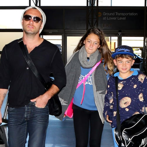 Jude Law With Kids Iris and Rudy at LAX | Pictures