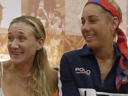 WATCH: Sarah Jessica Parker and Kurt Russell Surprise Olympians Kerri Walsh Jennings and April Ross