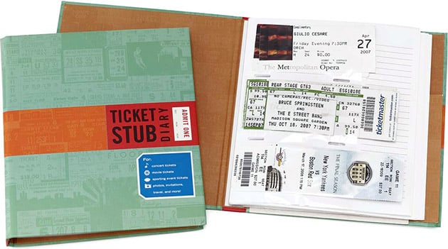 For the General Sports Fan: Ticket Stub Diary