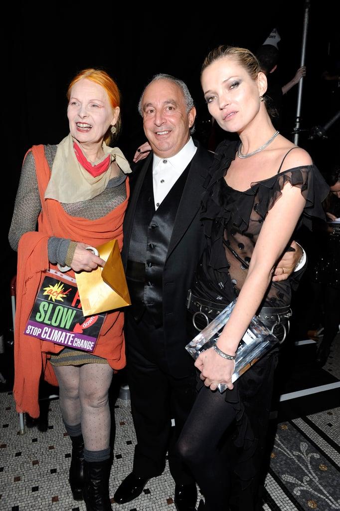 Vivienne Westwood, Sir Philip Green, Kate Moss