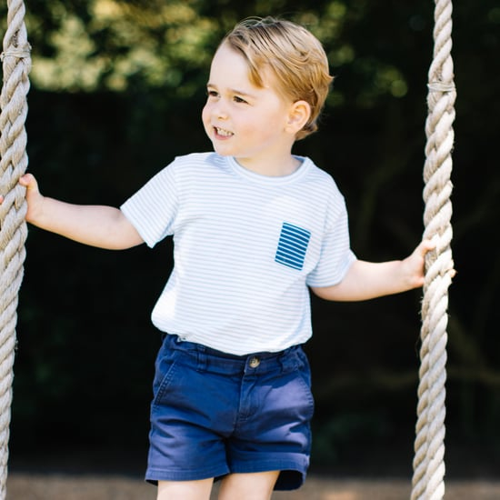 Prince George's Whale Sweater and Striped Tee