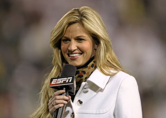 "In 2004, she started working for ESPN as a reporter for National Hockey Night. Soon, she took on sideline reporting duties for both college football and major league baseball. By 2007, she was named ""America's Sexiest Sportscaster"" by Playboy Magazine.