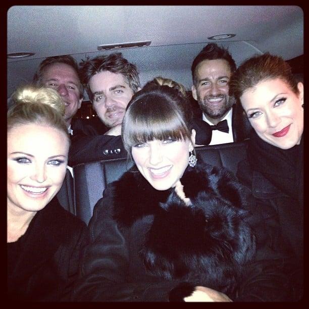 Malin Akerman, Sophia Bush and Kate Walsh attended the Inaugural Ball together. Source: Twitter user MalinAkerman