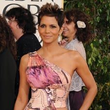Halle Berry in Thigh High Versace at the 2013 Golden Globes